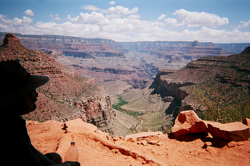 Bright Angel Trail overlooking the Indian Garden